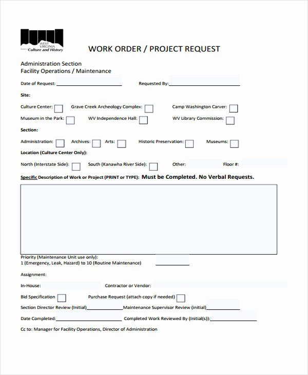 Work Request form Template Best Of 10 Work order Templates Pdf Apple Pages
