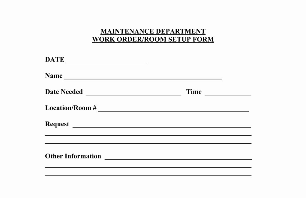 Work Request form Template Inspirational Operations forms