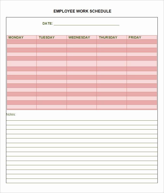 Work Schedule Template Pdf Elegant Employee Schedule Template 14 Free Word Excel Pdf