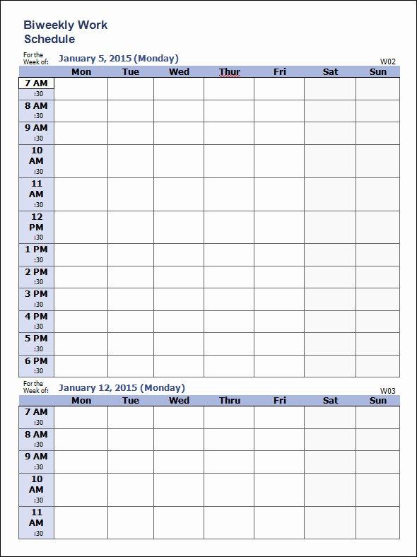 Work Schedule Template Pdf Inspirational Work Schedule Template