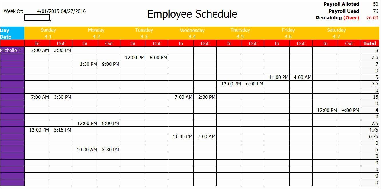 Work Schedule Template Pdf Luxury Work Schedule Template Pdf – Printable Schedule Template