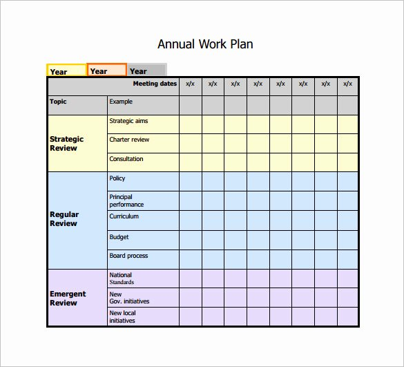 Work Schedule Template Pdf New Work Plan Template