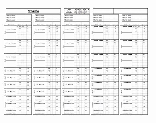 Workout Plan Template Excel Elegant Exrx Workout Logs – Workout Spreadsheet