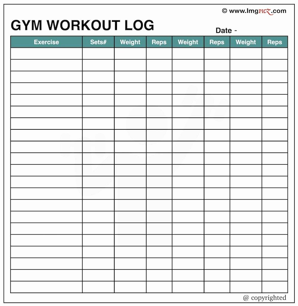 Workout Plan Template Excel Fresh Gym Schedule Template – Printable Schedule Template