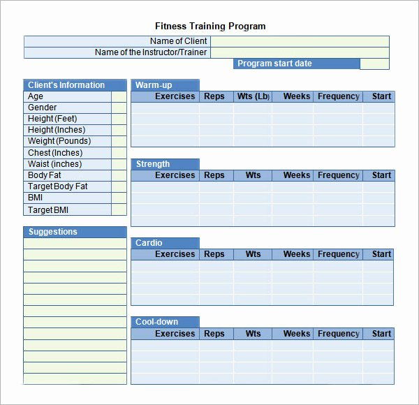 Workout Plan Template Excel Luxury Training Plan Template Excel Download