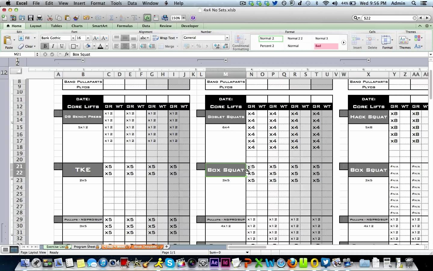 Workout Plan Template Excel Luxury Workout Template Excel