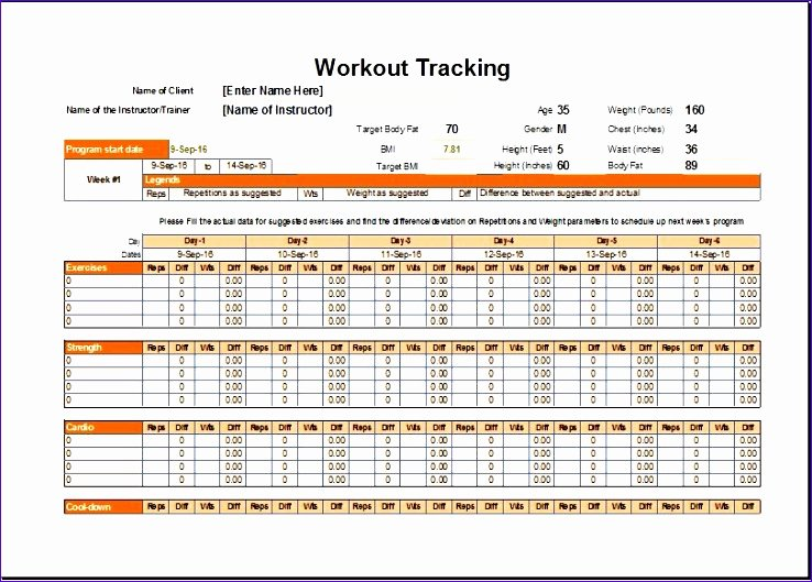 Workout Schedule Template Excel Awesome 8 Workout Schedule Tracker Exceltemplates Exceltemplates