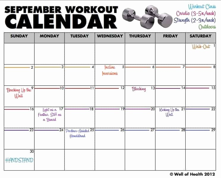 Workout Schedule Template Excel New 9 Excel Workout Templates Excel Templates