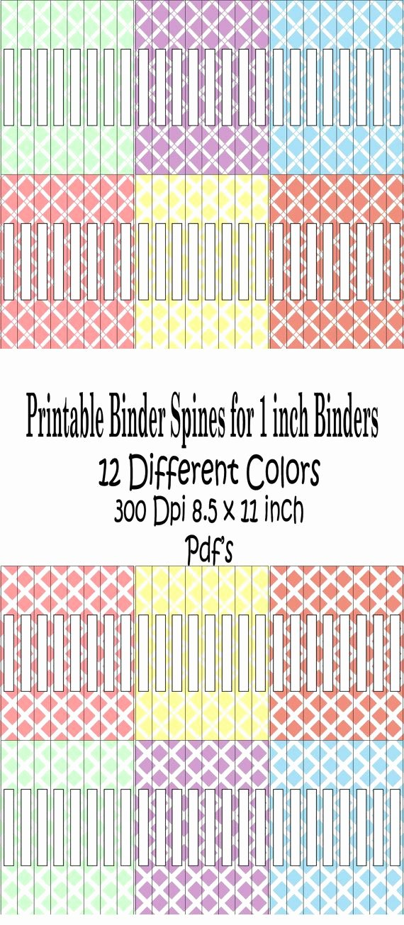 1 Binder Spine Template Awesome Printable Binder Spine Pack Size 1 Inch6 by
