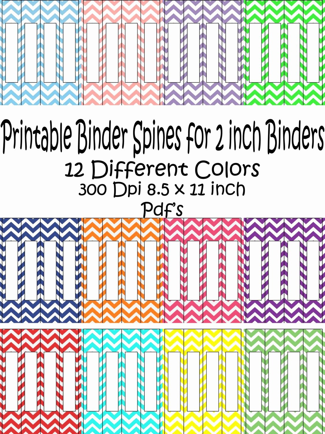 2 Inch Binder Spine Template Inspirational Printable Binder Spine Pack Size 2 Inch 12 Different