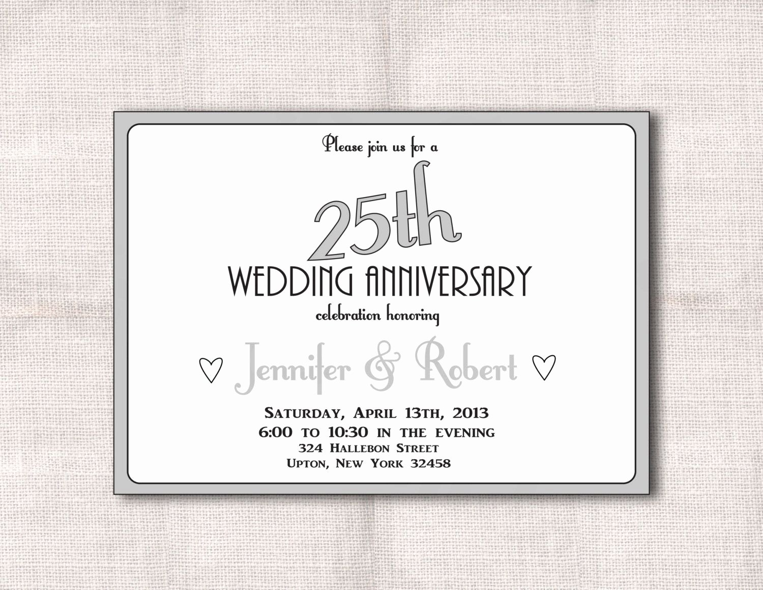 25th Wedding Anniversary Invitations Templates Awesome Surprise 25th Wedding Anniversary Invitations Surprise