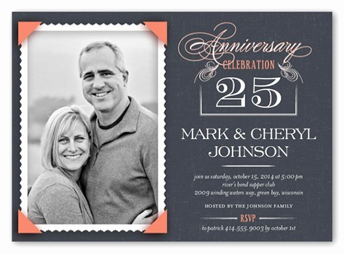 25th Wedding Anniversary Invitations Templates Fresh How to Plan An Anniversary Party Step by Step