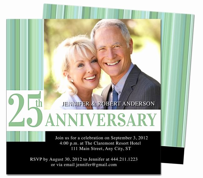 25th Wedding Anniversary Invitations Templates Inspirational Wedding Anniverary Invitations Templates Happiness 25th
