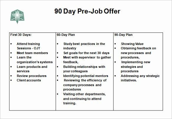 30 60 90 Plan Templates Beautiful 12 30 60 90 Day Action Plan Templates Doc Pdf