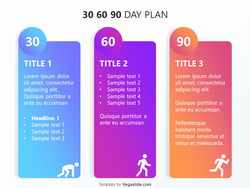 30 60 90 Plan Templates Inspirational Refreshing 30 60 90 Day Plan Powerpoint Template Download
