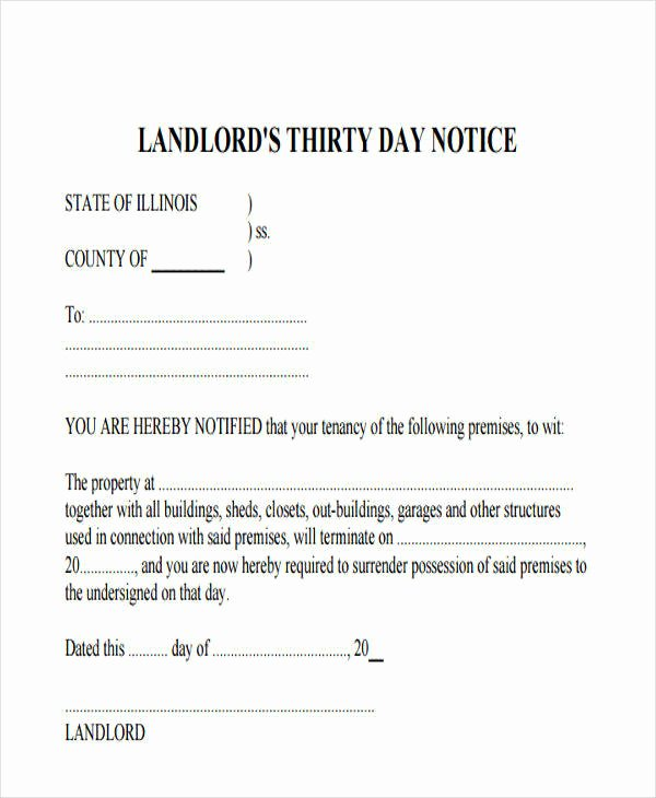 30 Days Eviction Notice Template Inspirational 32 Eviction Notice Templates Pdf Google Docs Ms Word