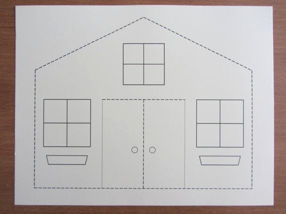 3d Paper Building Templates Best Of 3d Paper House Craft for Kids Instant Download Template
