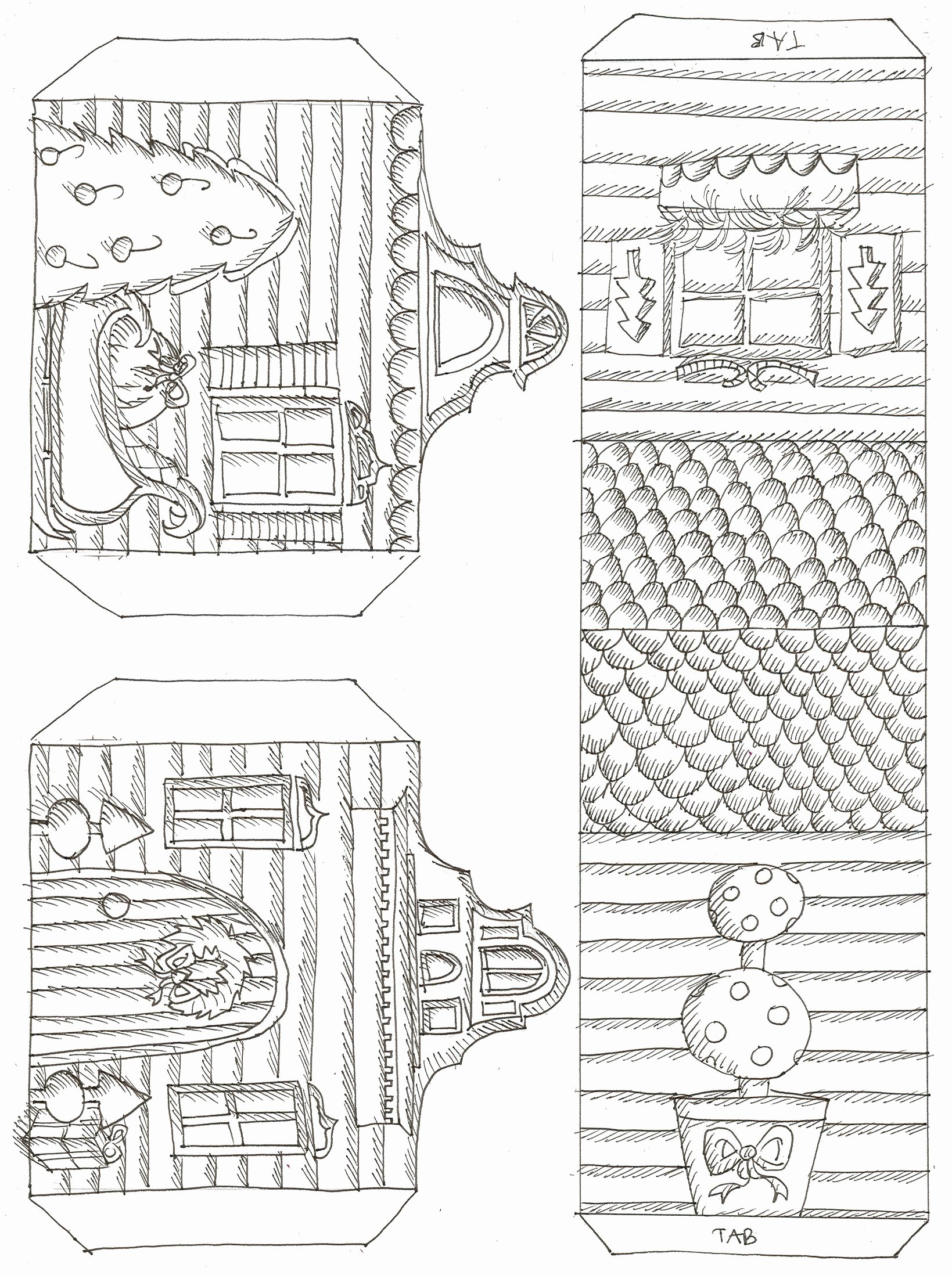 3d Paper Building Templates Best Of 3d Paper House Patterns