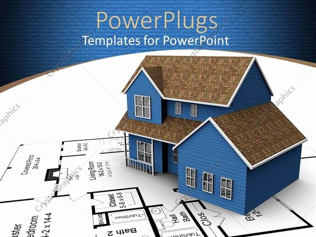 3d Paper Building Templates Best Of Powerpoint Template A 3d House On A White Paper with A