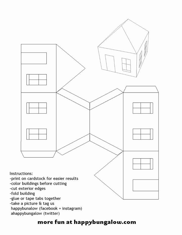 3d Paper Building Templates Fresh 17 Best Images About Templates On Pinterest