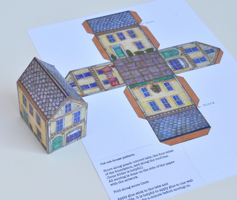 3d Paper Building Templates Fresh 3d Paper House Template Instant as Pdf