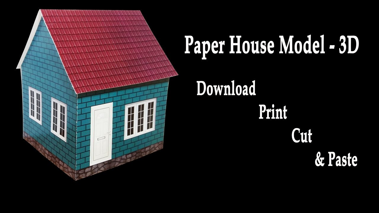 3d Paper Building Templates Inspirational How to Make A Paper House 3d House Model Hd Very Easy