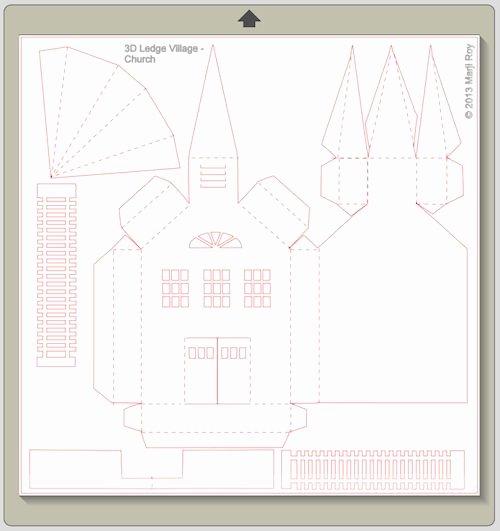 3d Paper Building Templates Unique ashbee Design Silhouette Projects 3d Ledge Village