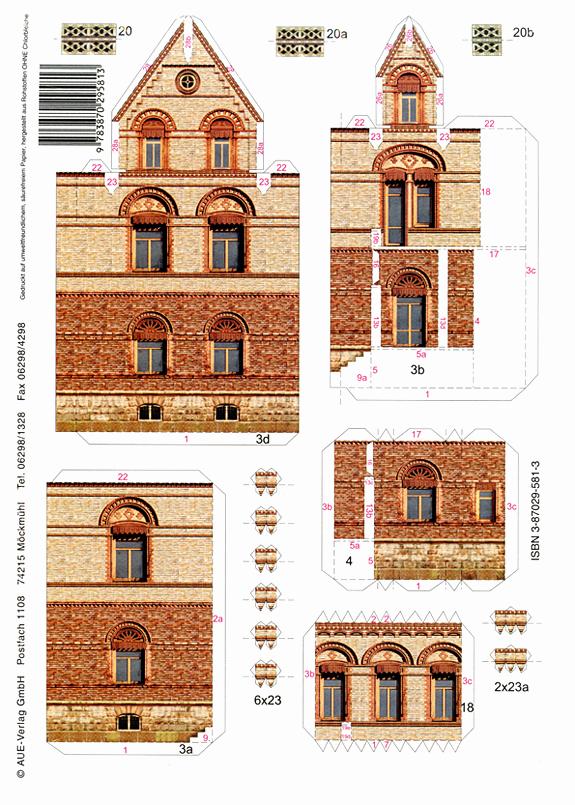 3d Paper Building Templates Unique Villa Braun Metzingen Papermodelkiosk