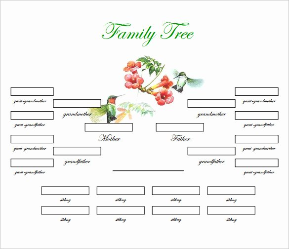 4 Generation Family Tree Templates Awesome Family Tree Template 31 Free Printable Word Excel Pdf