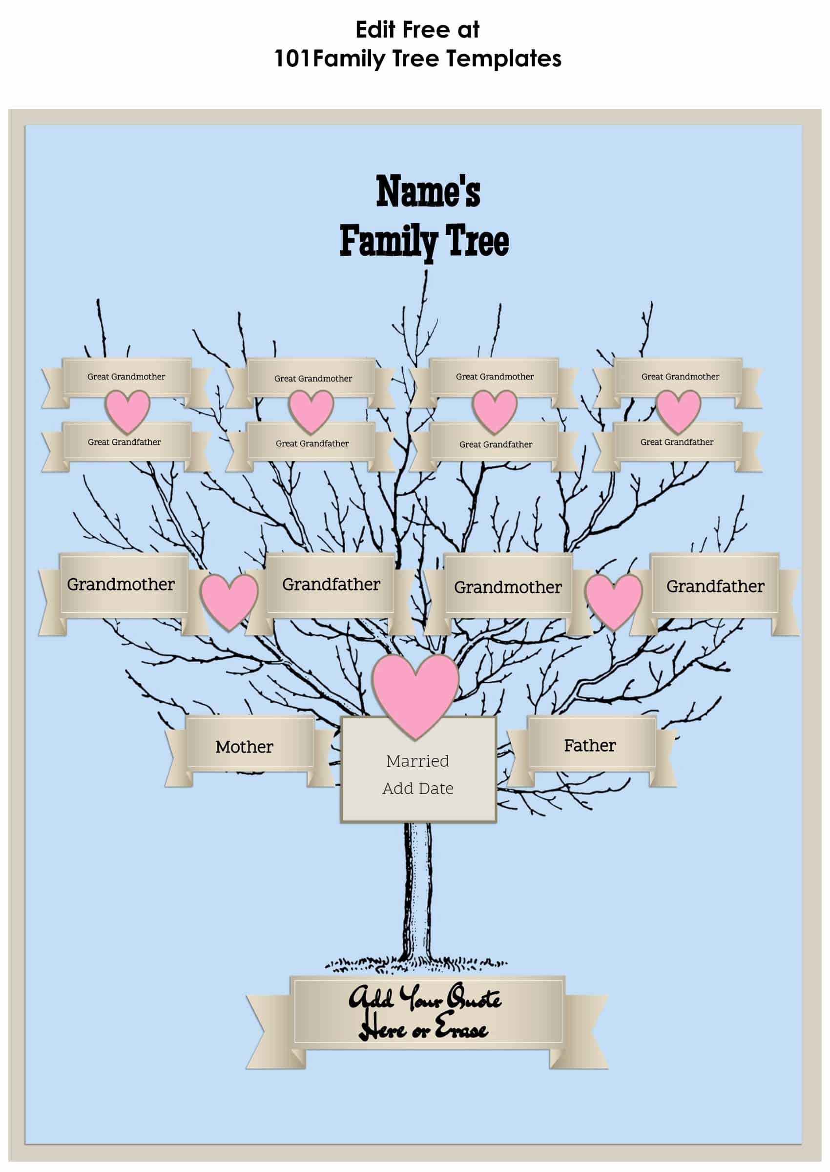 4 Generation Family Tree Templates Beautiful 3 Generation Family Tree Generator