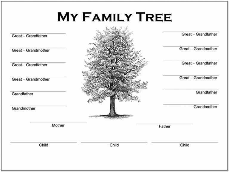 4 Generation Family Tree Templates Beautiful Family Tree Template Word