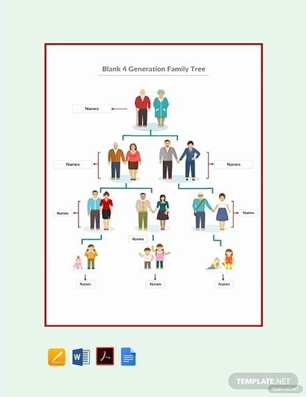 4 Generation Family Tree Templates Best Of Free Blended Family Tree Template In Microsoft Word Apple
