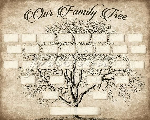 5 Generation Family Tree Template Inspirational Custom Family Tree Printable 5 Generation Template