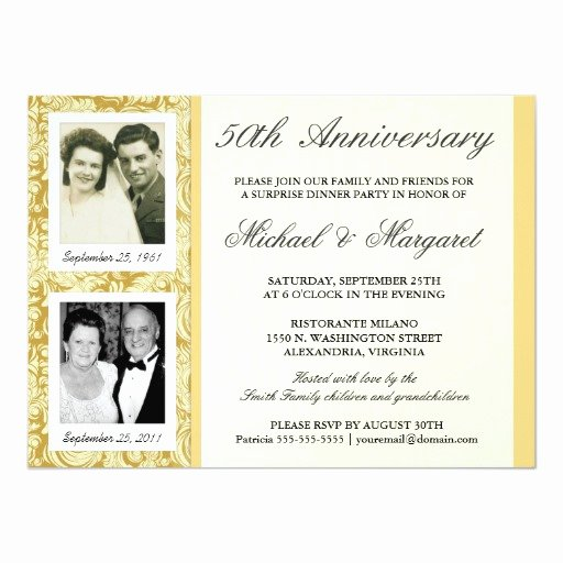 50th Anniversary Invitations Templates Awesome 50th Anniversary Invitations then & now S