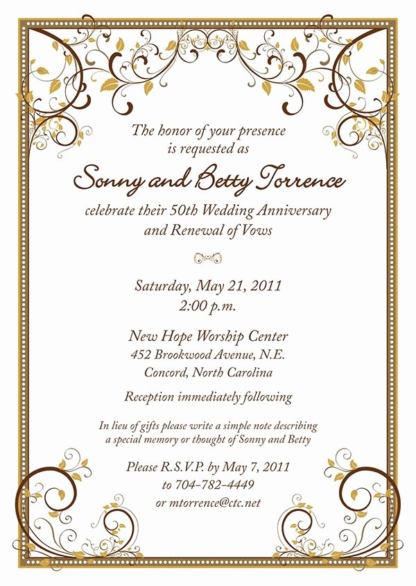 50th Anniversary Invitations Templates Beautiful 17 Best Images About 50th Anniversary Party On Pinterest