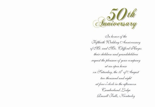 50th Anniversary Invitations Templates Beautiful 50th Wedding Anniversary Invitations