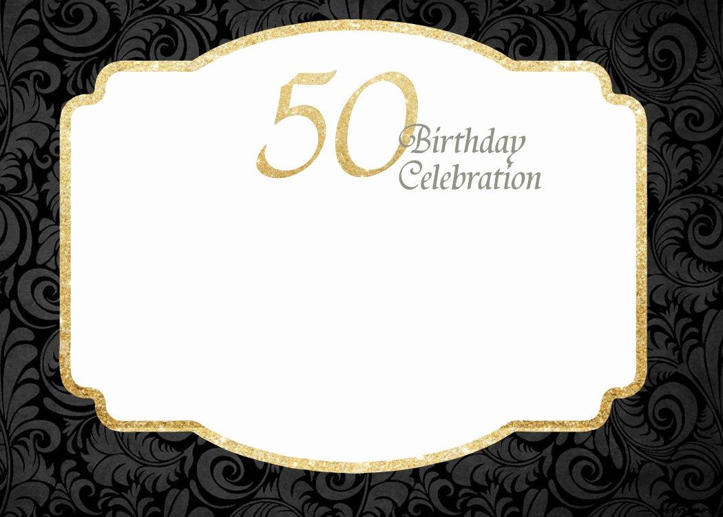 50th Anniversary Invitations Templates Beautiful Free Printable 50th Birthday Invitations Template Free