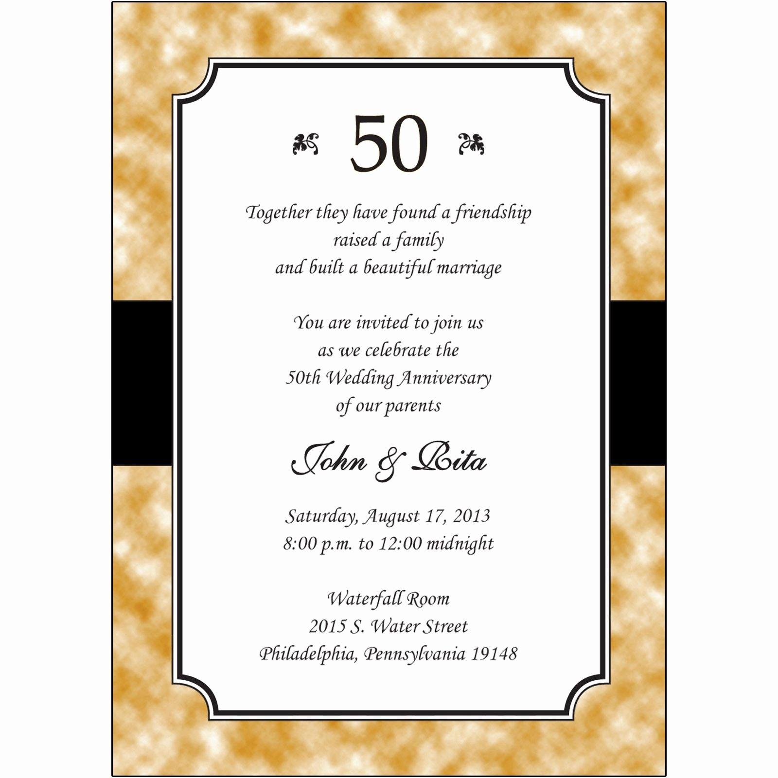 50th Anniversary Invitations Templates Beautiful Personalized 50th Anniversary Invitations