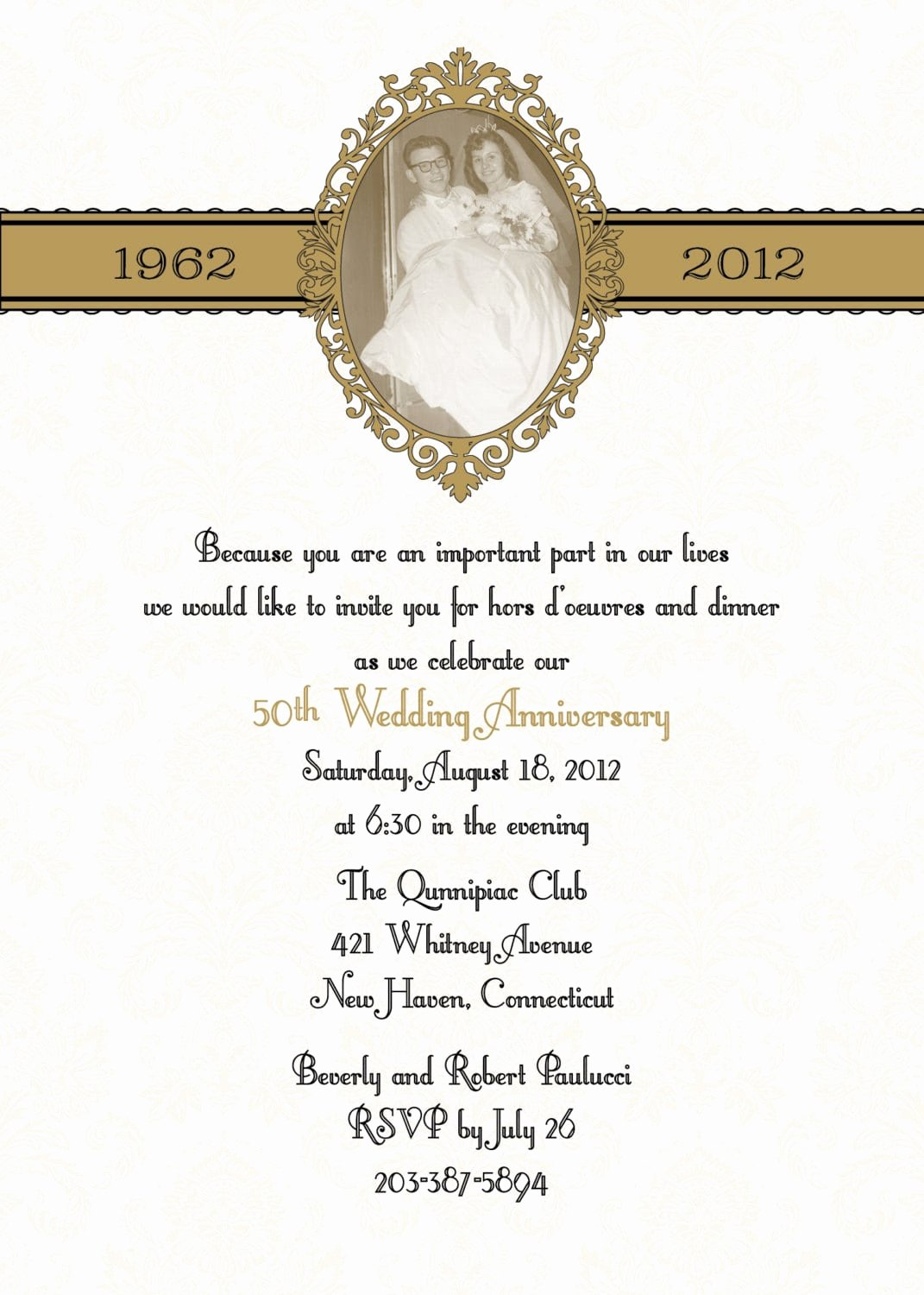 50th Anniversary Invitations Templates Best Of 50th Anniversary Invitation Template