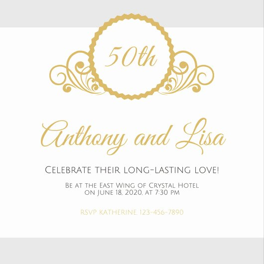 50th Anniversary Invitations Templates Best Of Customize 1 796 50th Anniversary Invitation Templates