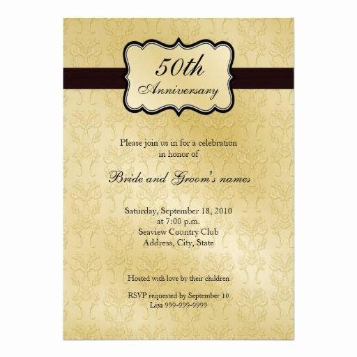 50th Anniversary Invitations Templates Elegant 50th Anniversary Invitations
