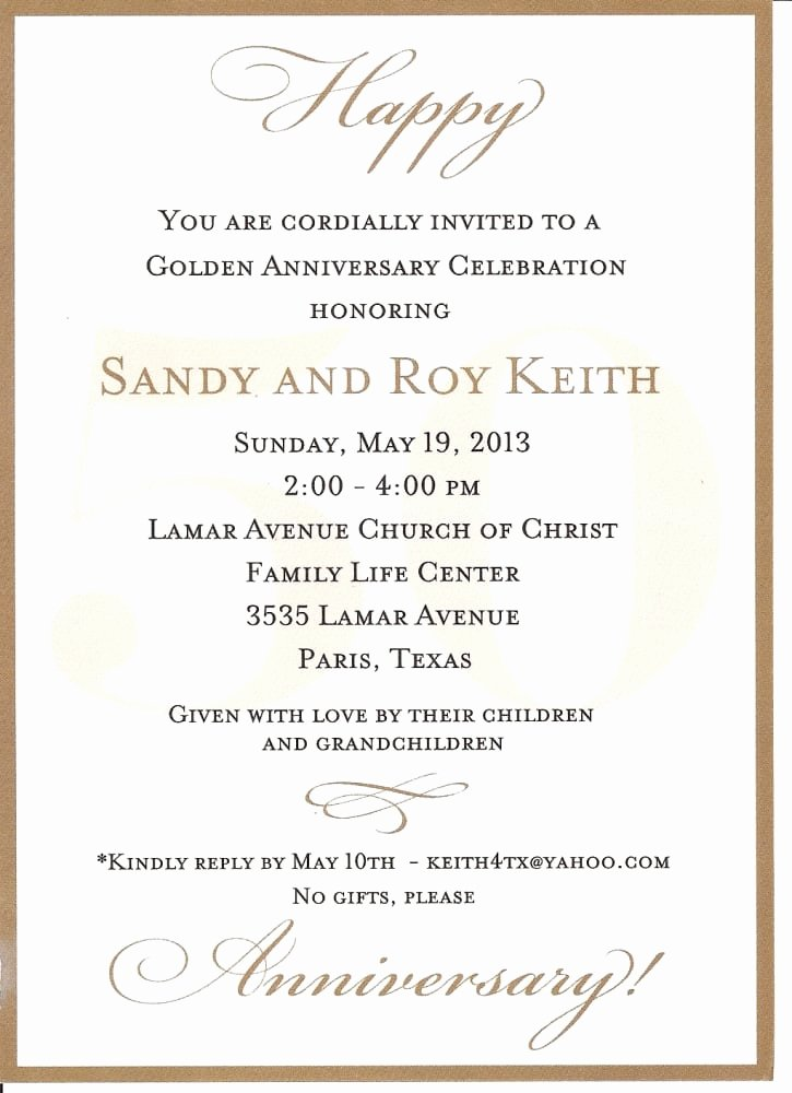 50th Anniversary Invitations Templates Fresh 50th Anniversary Invitation