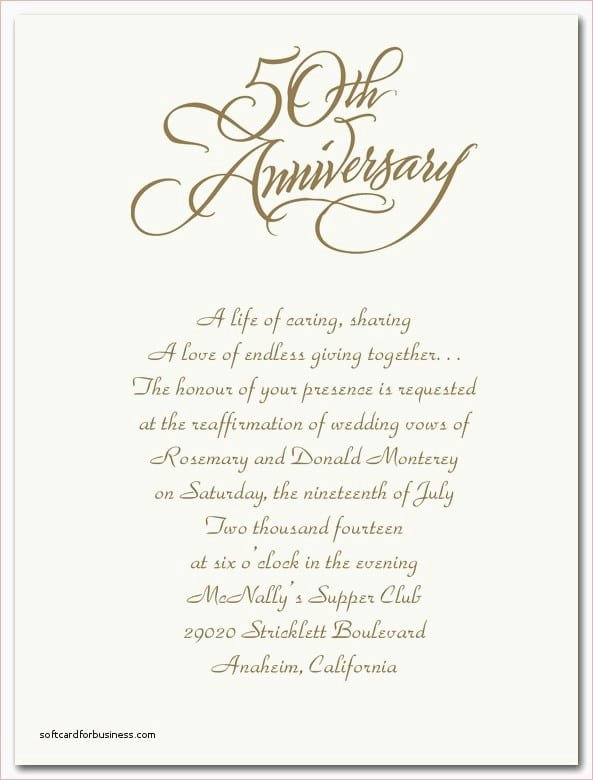 50th Anniversary Invitations Templates Inspirational 50th Wedding Anniversary Invitations