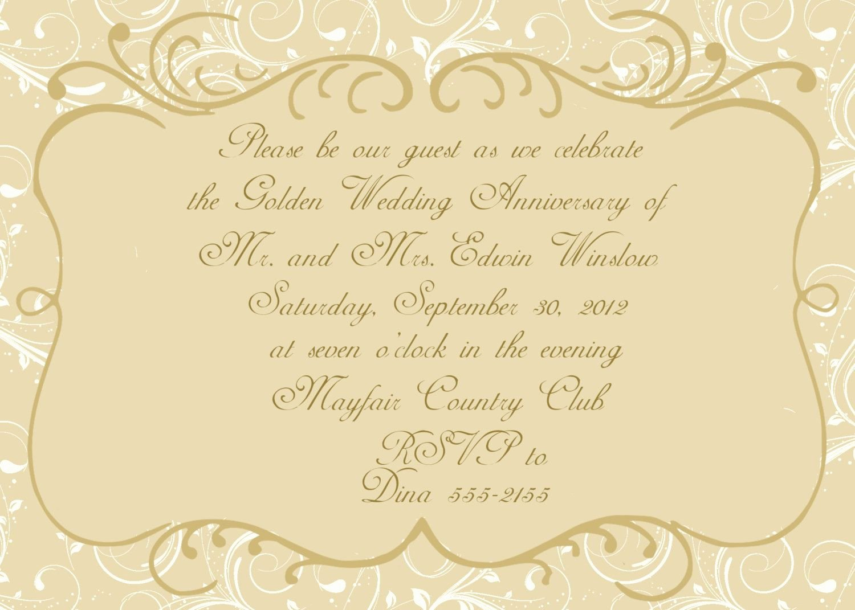 50th Anniversary Invitations Templates Inspirational Anniversary Invitations 50th