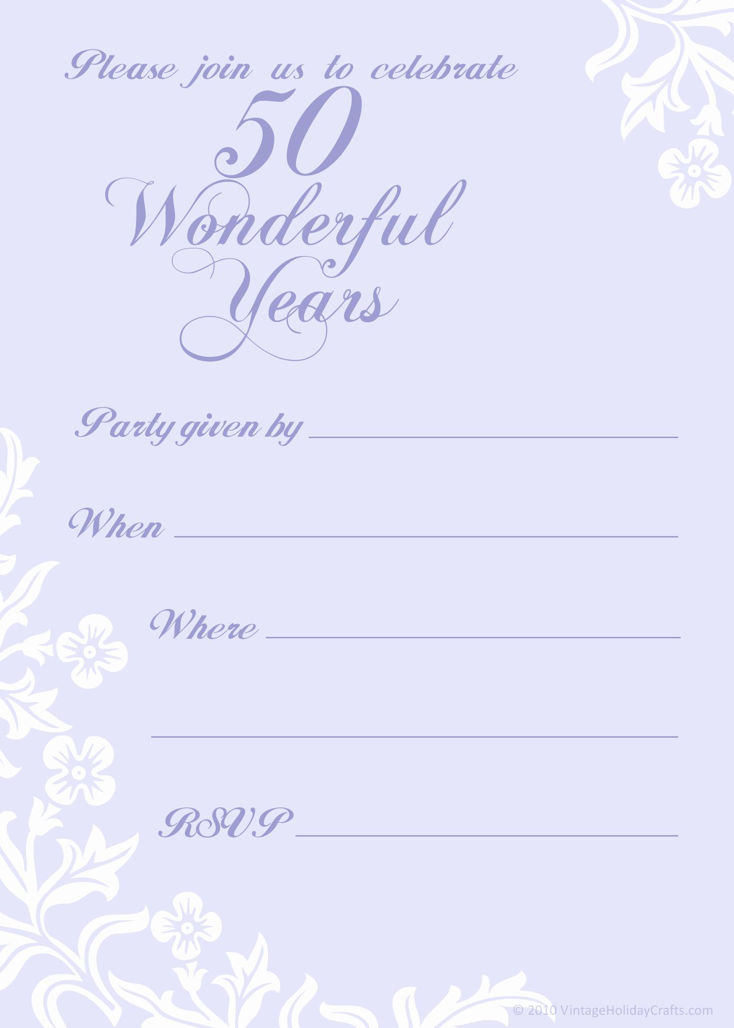 50th Anniversary Invitations Templates Inspirational Free 50th Wedding Anniversary Invitations Templates