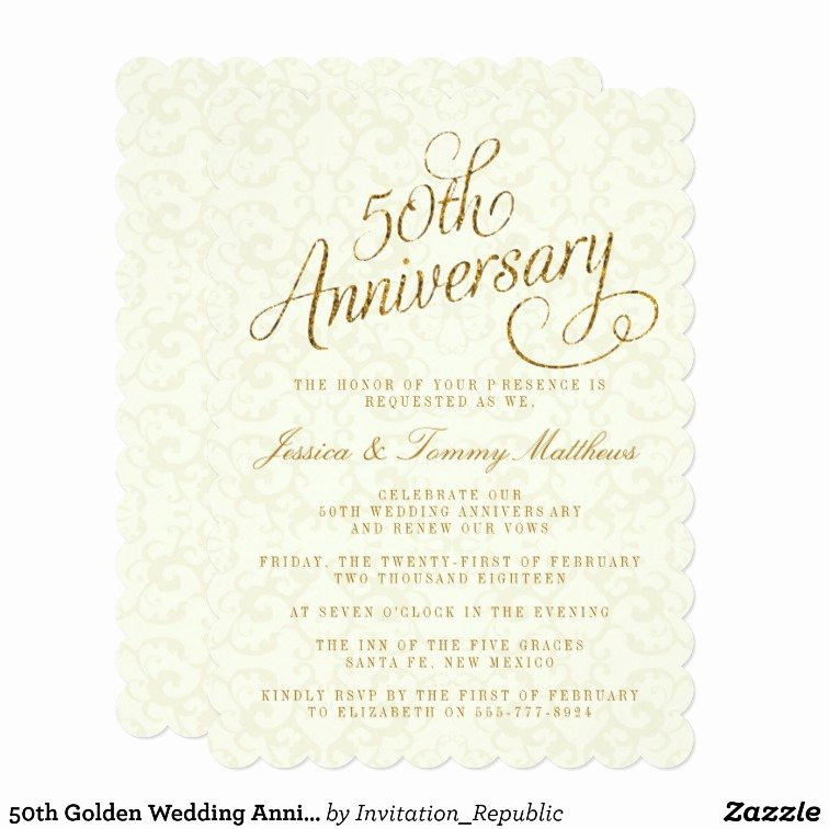 50th Anniversary Invitations Templates Lovely 50th Golden Wedding Anniversary Invitations