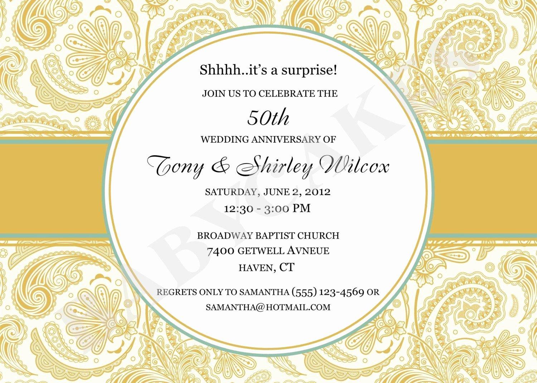 50th Anniversary Invitations Templates Luxury 50 Wedding Anniversary Invitation 50th Wedding