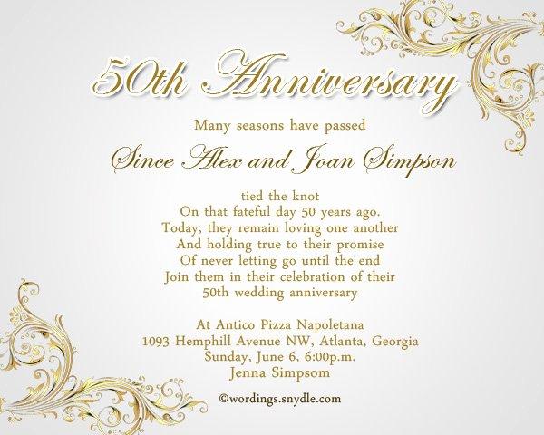 50th Anniversary Invitations Templates Luxury 50th Anniversary Invitations Templates