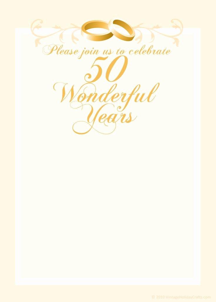 50th Anniversary Invitations Templates Luxury Free 50th Wedding Anniversary Invitations Templates