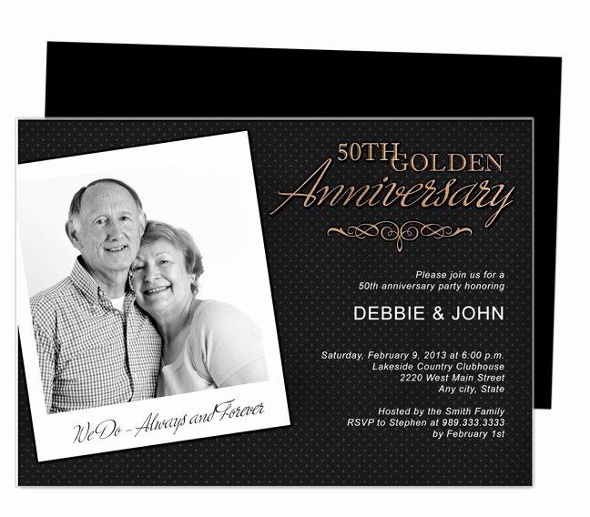 50th Anniversary Invitations Templates New 9 Best 25th & 50th Wedding Anniversary Invitations
